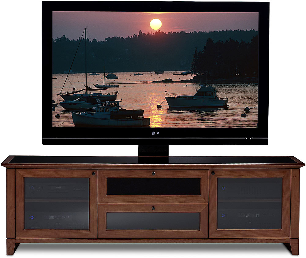 Bdi Novia 8429 Cocoa Audio Video Cabinet For Tvs Up To 75 At  # Meuble Tv California