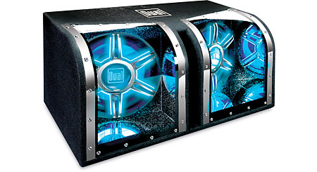 """Dual BP1204 Illuminite™ bandpass enclosure with two 12"""" subwoofers"""