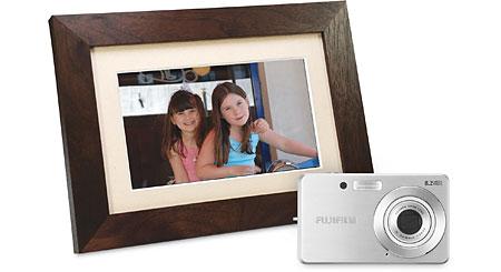 Fujifilm Camera & Smartparts Photo Frame Package Fujifilm FinePix J10 digital camera and Smartparts SP700W digital photo frame