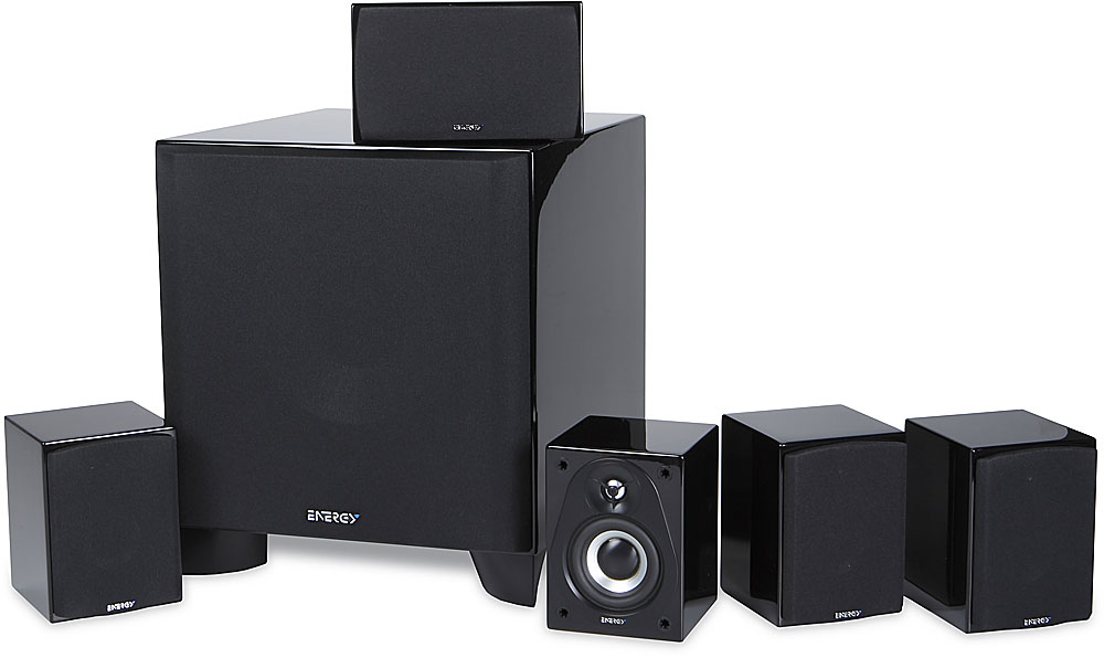 Set of Six, Black Energy 5.1 Take Classic Home Theater System