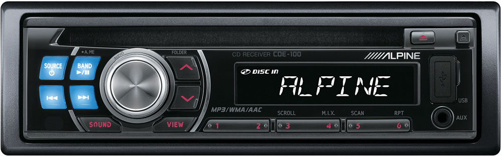 alpine cde 100 cd receiver at crutchfield com rh crutchfield com Alpine Radio Reset Clock On Alpine