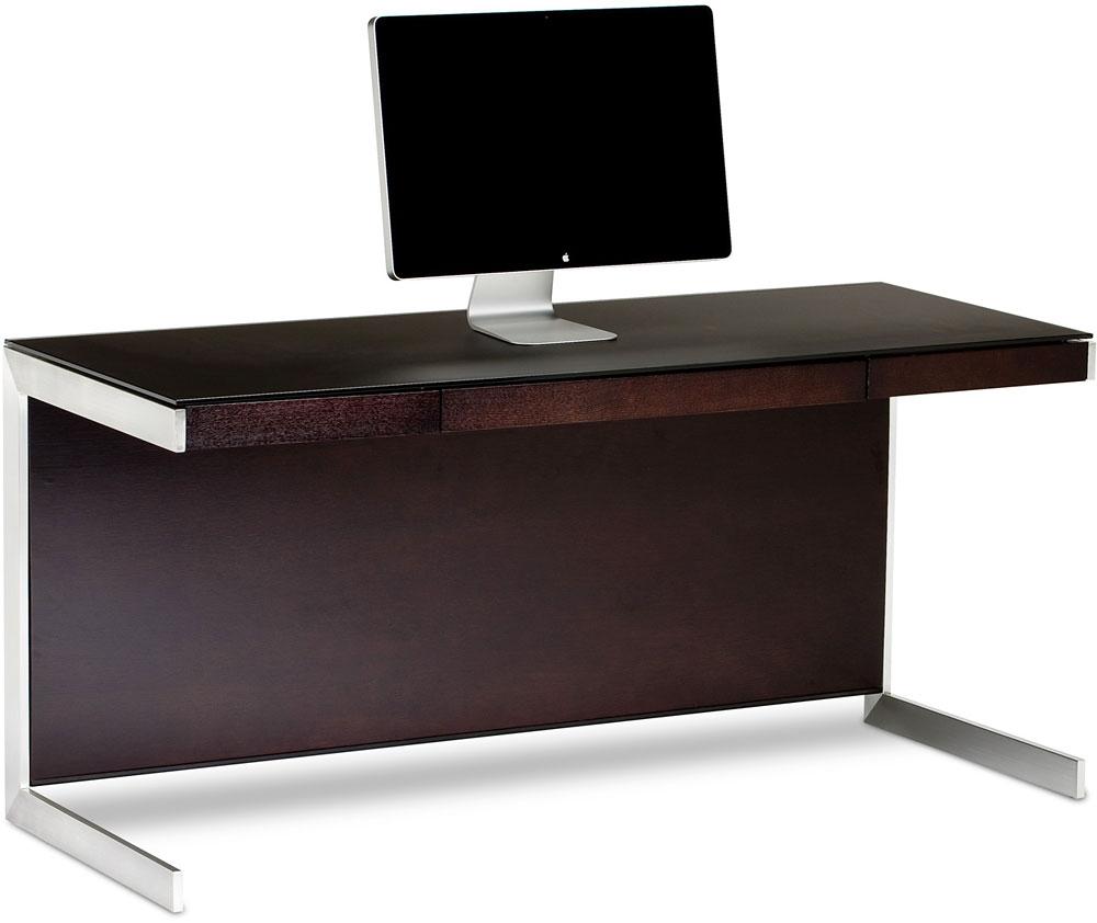"BDI Sequel 40 Desk (Espresso Stained Oak) 40""-wide desk with center  drawer at Crutchfield"