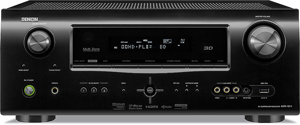 denon avr 1911 home theater receiver with 3d ready hdmi switching at rh crutchfield com denon receiver avr 1911 manual avr-1911 service manual
