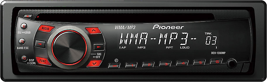 pioneer deh 1300mp cd receiver at crutchfield com Pioneer Car CD Player Factory