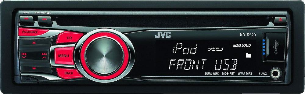 jvc kd r520 cd receiver at crutchfield com
