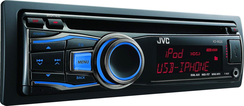 x105KDR620 o_side jvc kd r620 cd receiver at crutchfield com jvc kd r320 wiring harness pinout at suagrazia.org