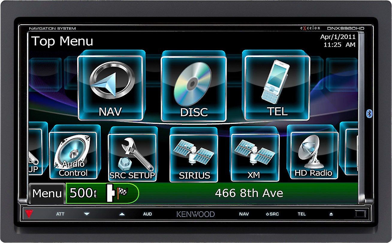 Kenwood Excelon DNX9980HD on