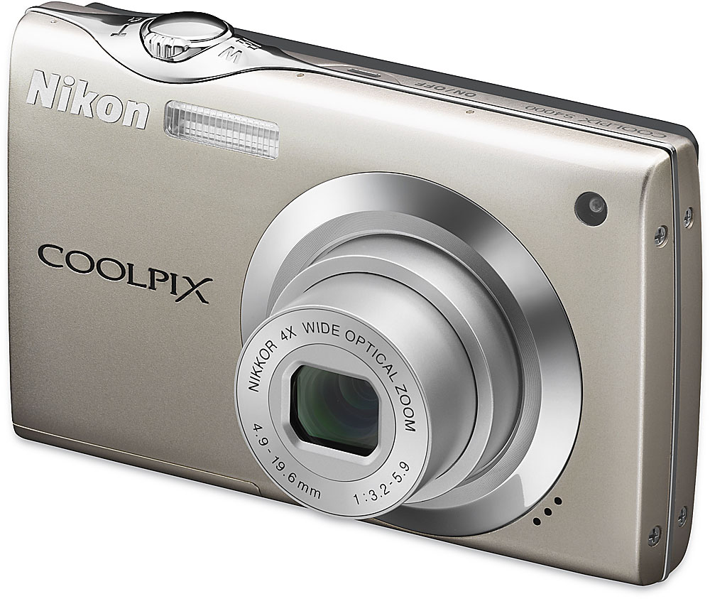 Nikon Coolpix S4000 (Champagne Silver) 12-megapixel digital camera with 4X  optical zoom and HD video recording at Crutchfield.com