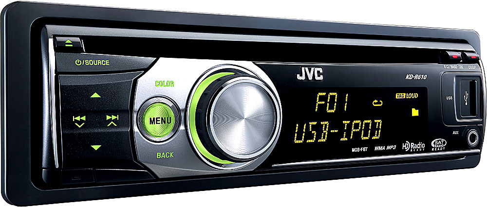 jvc kd r610 cd receiver at crutchfield com rh crutchfield com JVC Car Stereo User Manual User Manual JVC KD- X80BT