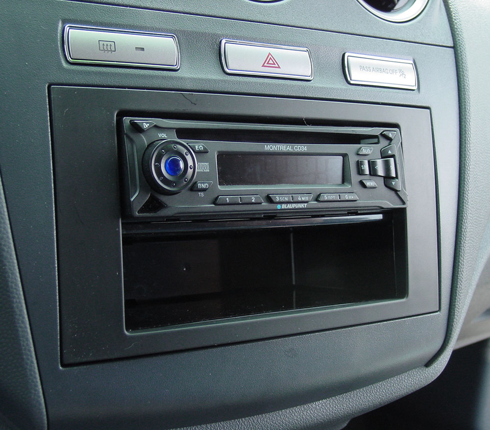 Ford transit connect in dash receiver kit fits 2010 up models single din at crutchfield com