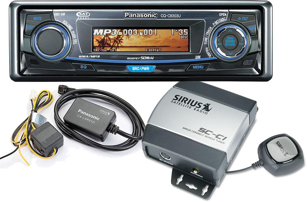 Used in box Sirius SCC1 satellite radio universal car tuner antenna 8pin mount