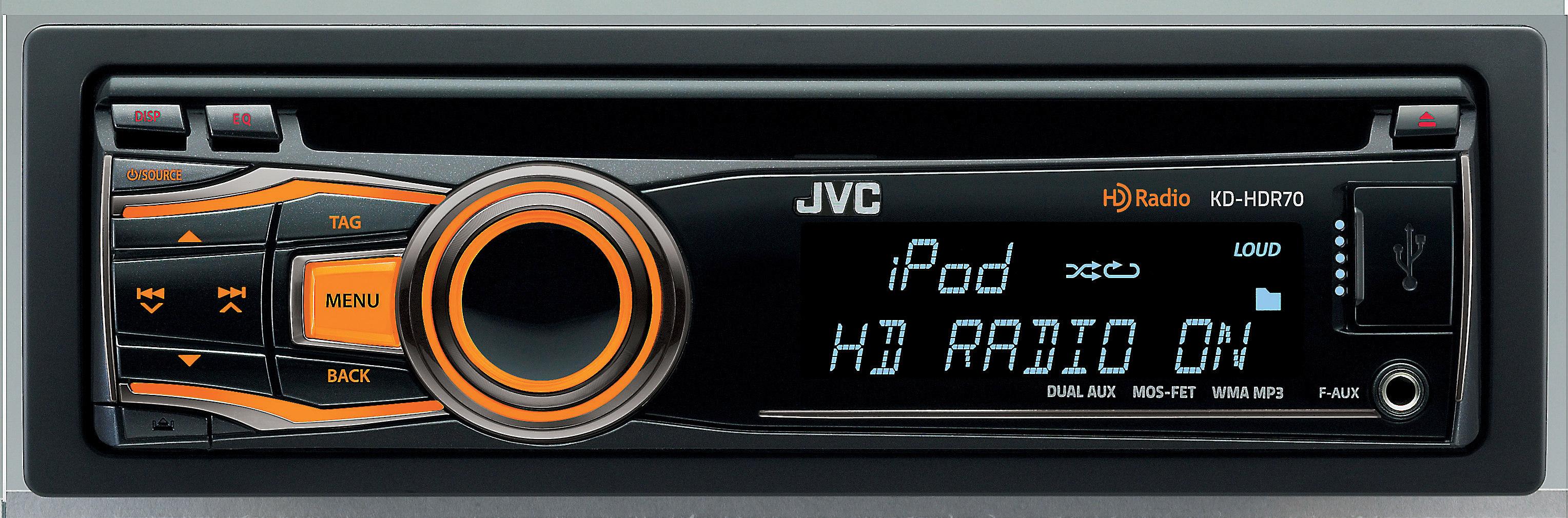 JVC KD-HDR70 CD receiver at Crutchfield on