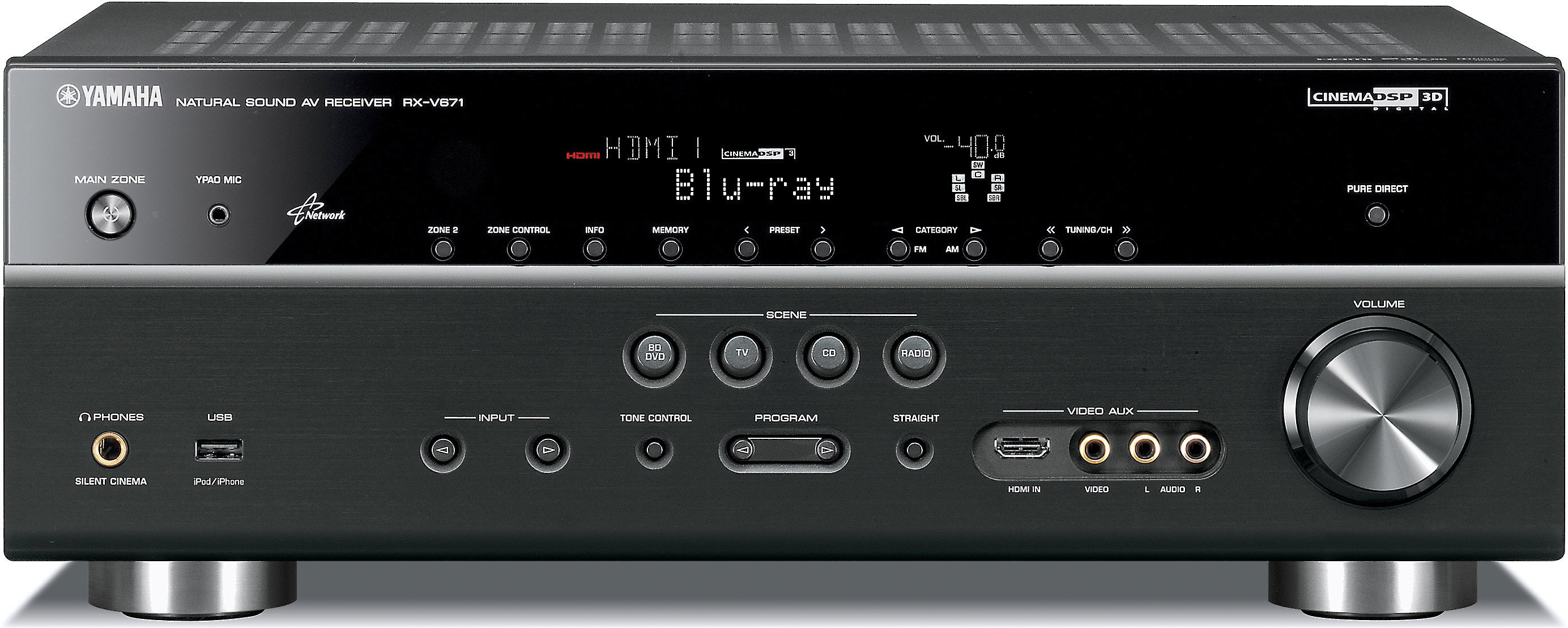 Yamaha Rx V671 Home Theater Receiver With 3d Ready Hdmi Switching Internet Ready At Crutchfield