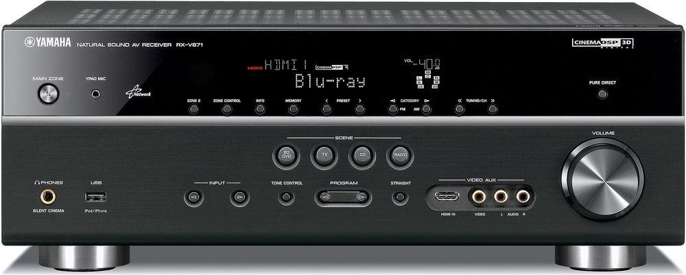 yamaha rx v671 home theater receiver with 3d ready hdmi switching rh crutchfield com Yamaha RX 115 Yamaha RX 125