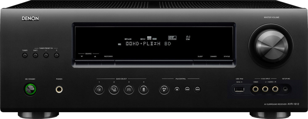 denon avr 1612 home theater receiver with 3d ready hdmi switching at rh crutchfield com denon avr 1612 owners manual Denon AVR 900 Remote