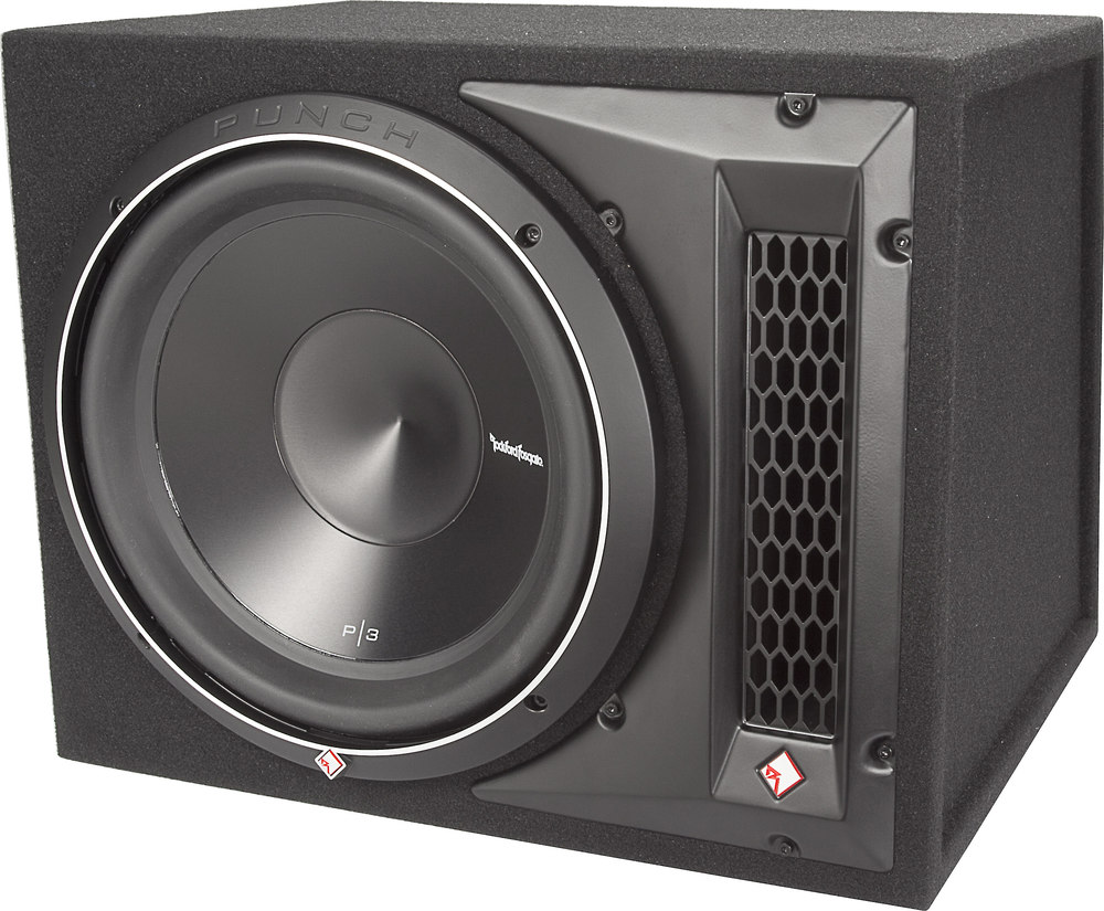 rockford fosgate p3 1x12 punch p3 ported enclosure with 12 quot sub at crutchfield