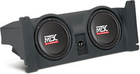 "Mtx Audio T-Form 97-06 Jeep TJ  Charcoal w/two 10"" Subs a..."