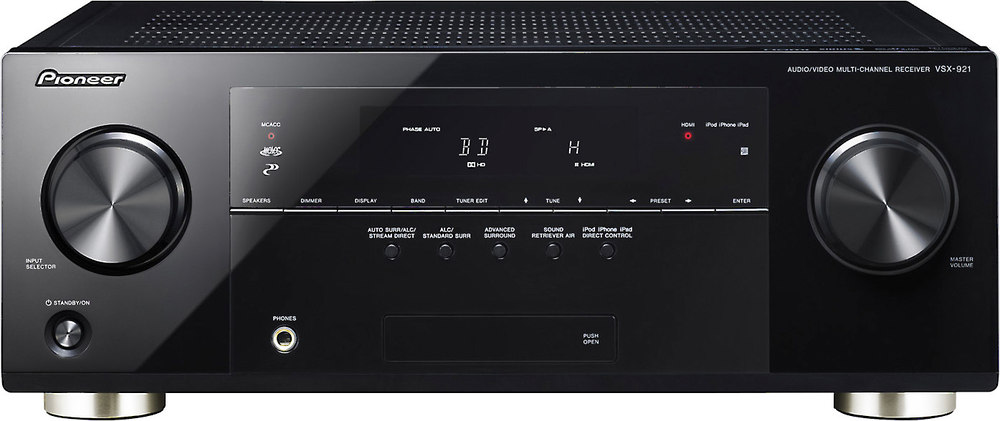 Pioneer VSX 921 K Home Theater Receiver With 3D Ready HDMI Switching At Crutchfield