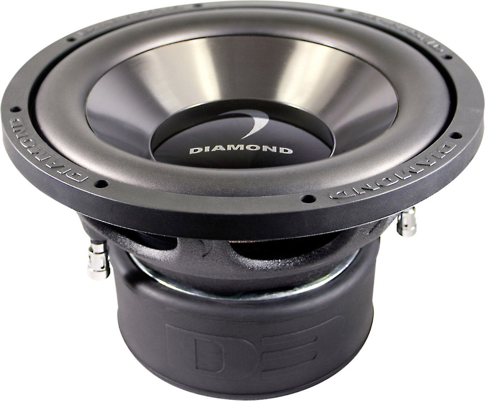 diamond audio dd d series subwoofer dual ohm diamond audio d312d2 2 d3 series 12 subwoofer dual 2 ohm voice coils at com