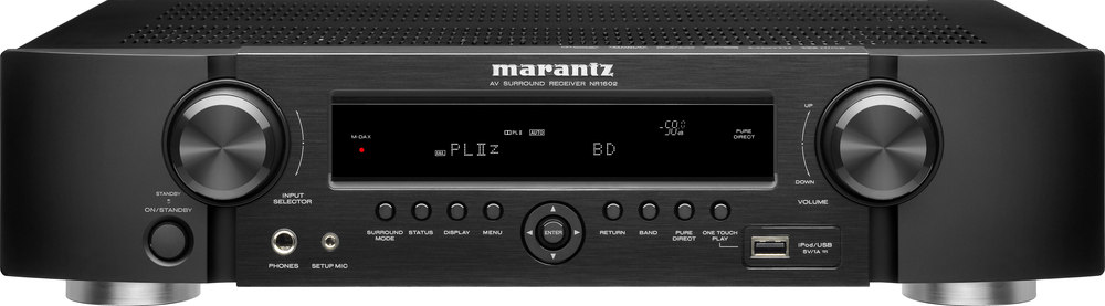 marantz nr1602 home theater receiver with 3d ready hdmi switching rh crutchfield com marantz nr1602 manual pdf download