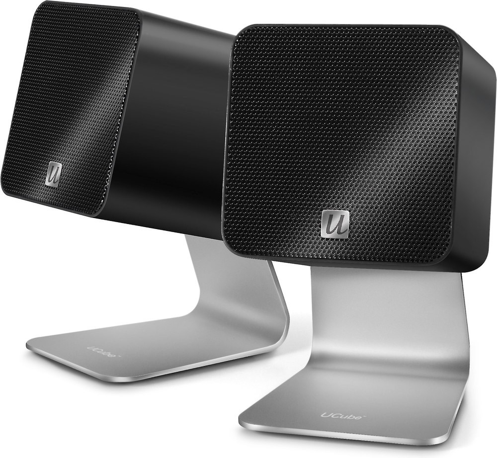 Ultralink Ucube Black Usb Powered Portable Computer Speakers At Inceiling Speaker Crutchfield On Surround Sound Subwoofer Wiring