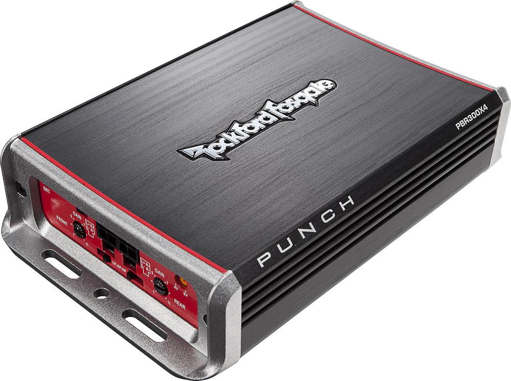 Rockford Fosgate Pbr300x4 Compact 4 Channel Car Amplifier 75 Watts