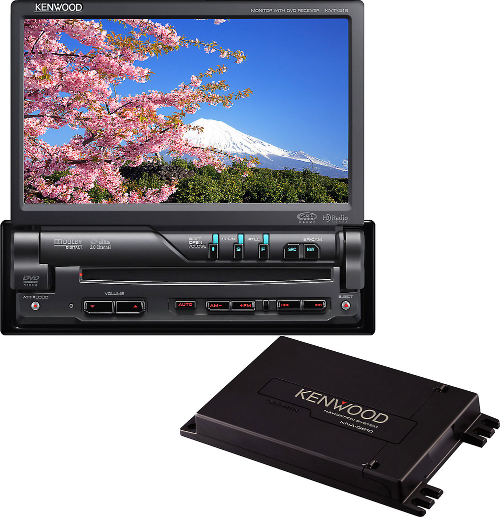 Kenwood KVT-516 Navigation Package Includes KVT-516 DVD receiver and KNA- G610 add-on GPS navigation system at Crutchfield.com