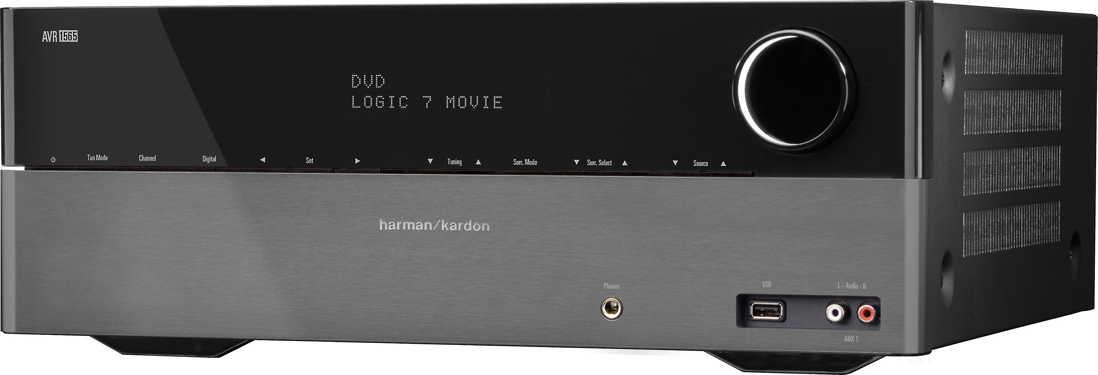Harman Kardon AVR 1565 Home theater receiver with 3D-ready HDMI switching on
