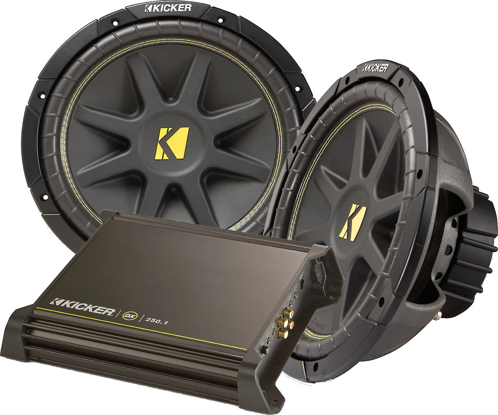 kicker 250 watt bass package package includes dx250 1 amp and two kicker 250 watt bass package package includes dx250 1 amp and two comp 12 subwoofers at crutchfield com