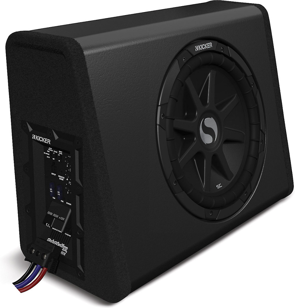 Kicker 11pes10c sealed powered subwoofer with 10 sub and 450 watt amp at crutchfield com