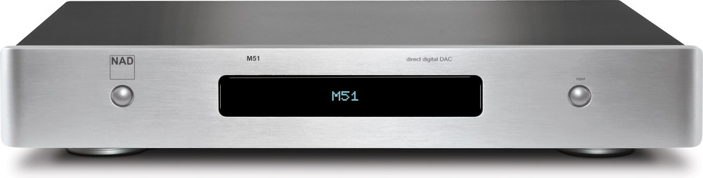 nad masters series m51 silver stereo dac digital preamp at rh crutchfield com Nad M50 nad m51 specifications