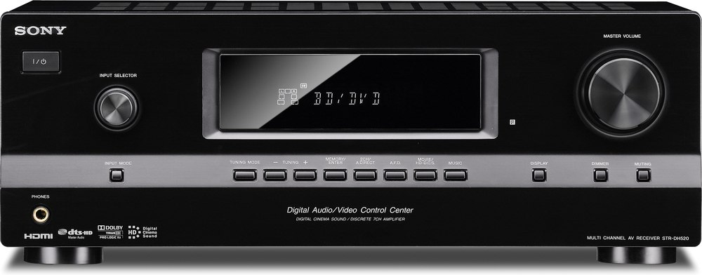 sony str dh520 7 1 channel home theater receiver at crutchfield com