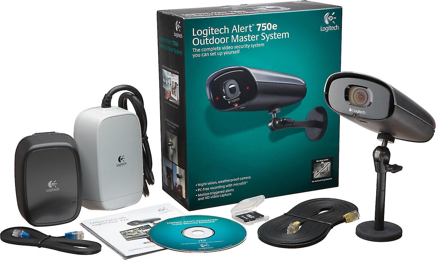 dd831059fc7 Logitech® Alert™ 750e Outdoor security camera system at Crutchfield