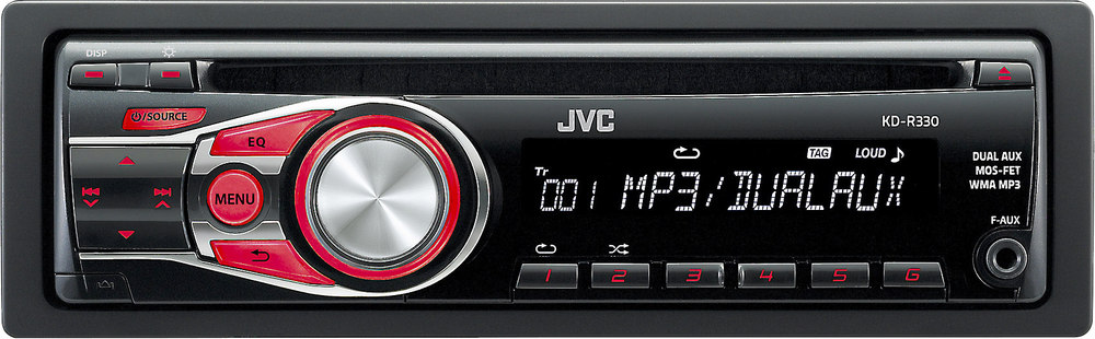 jvc kd r330 cd receiver at crutchfield com