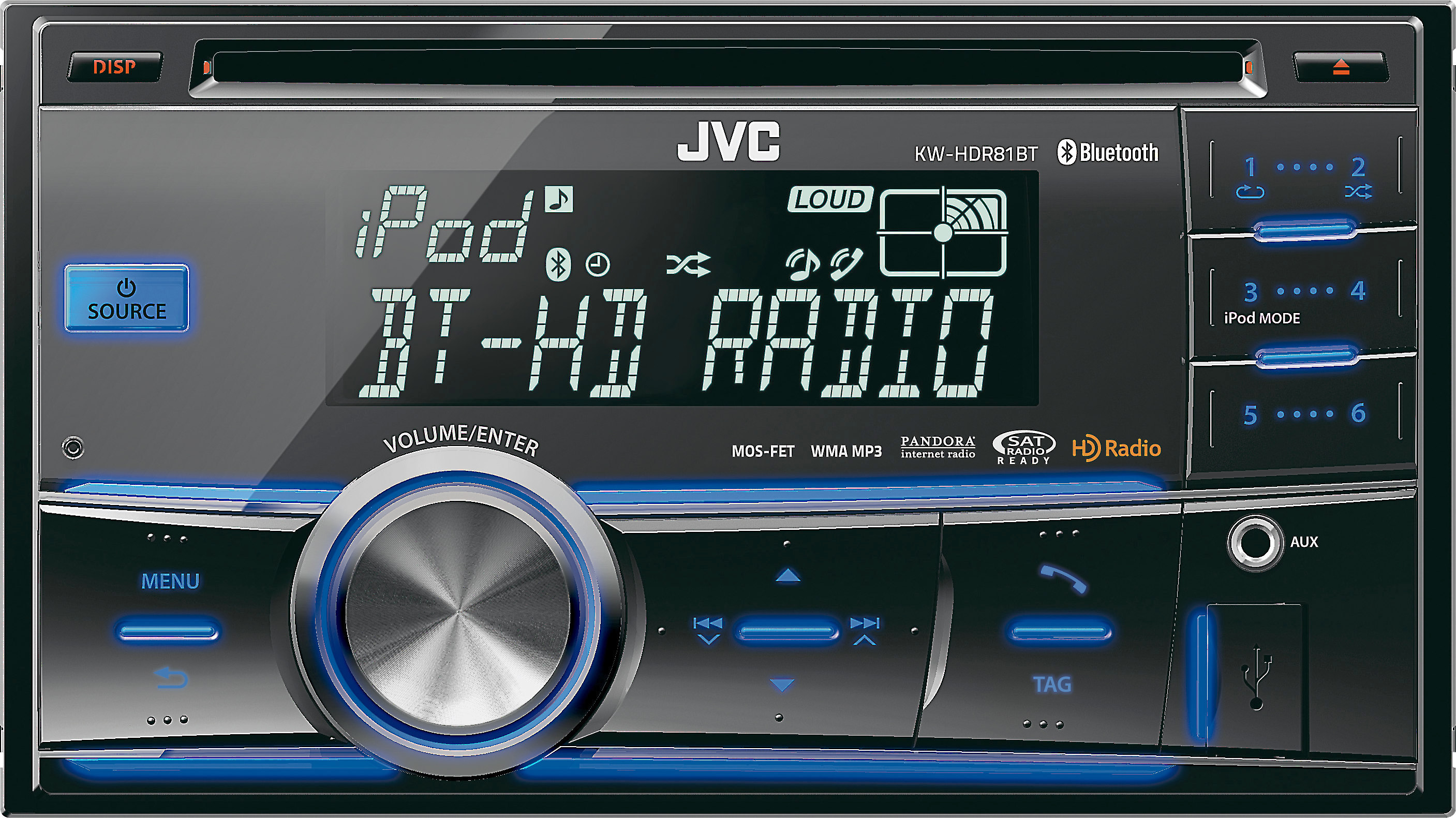 JVC KW-HDR81BT CD receiver at Crutchfield