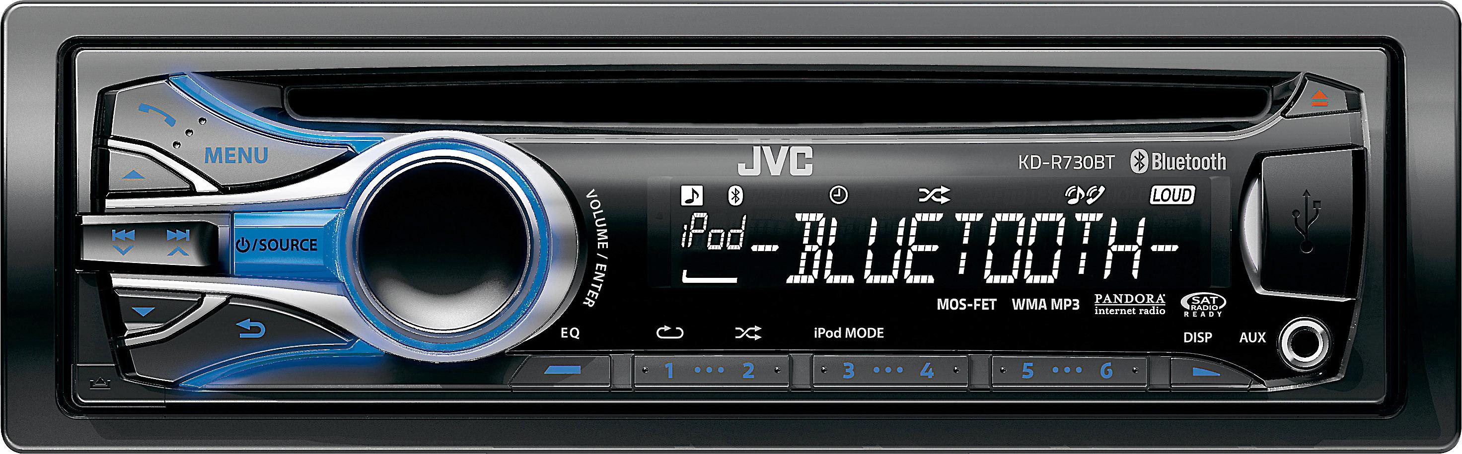 JVC KD-R730BT CD receiver at Crutchfield on jvc wiring harness, jvc speaker, jvc harness diagram, jvc kd r330 wiring, standard car stereo wire diagram, jvc user manual, sony stereo wire harness diagram, jvc dvd car stereo wiring, jvc kd r200 wire diagram, jvc kd s29 wiring,