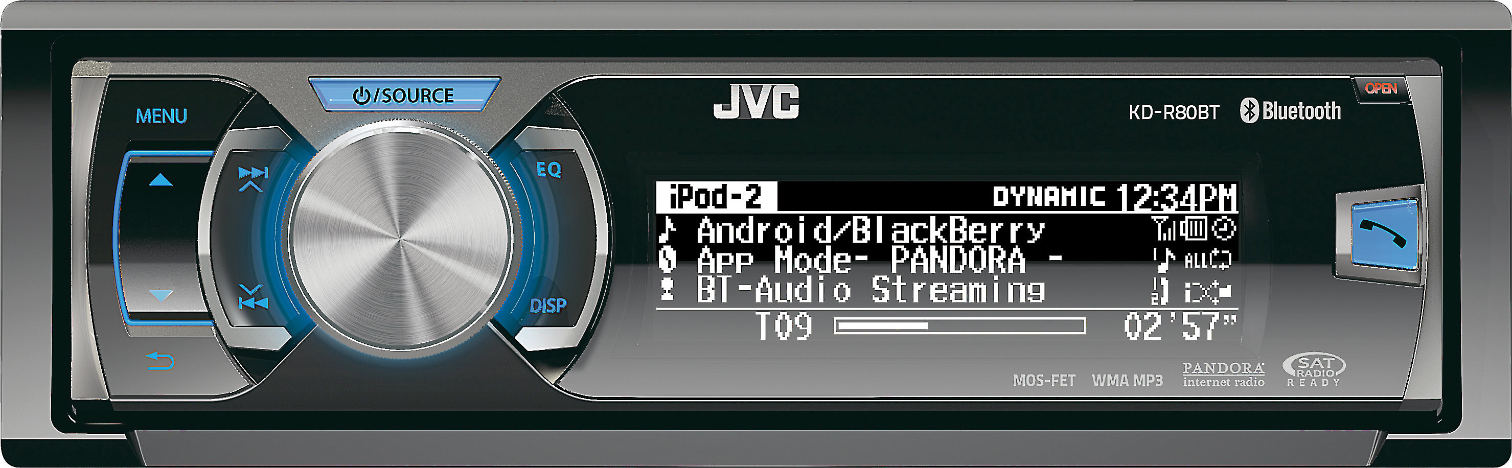 JVC KD-R80BT CD receiver at Crutchfield on
