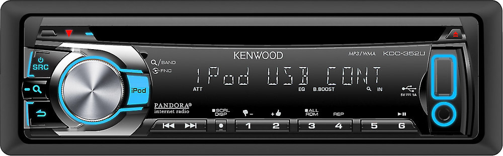 kenwood kdc 352u cd receiver at crutchfield com