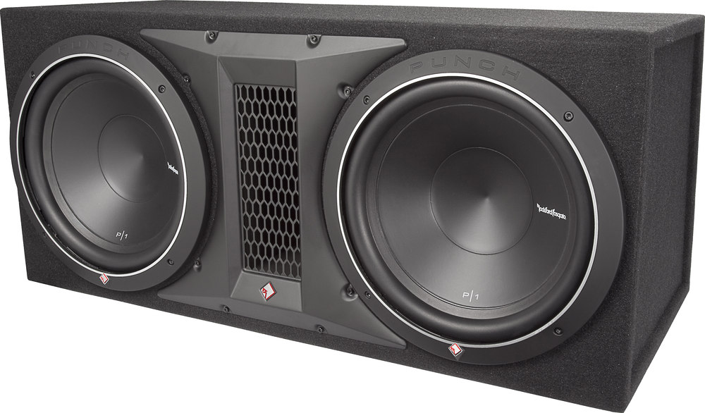 x575P12X12 F rockford fosgate punch p1 2x12 ported enclosure with two 12\