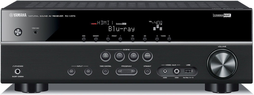 yamaha rx v373 home theater receiver with 3d ready hdmi switching at rh crutchfield com  yamaha rx-v373 owners manual pdf