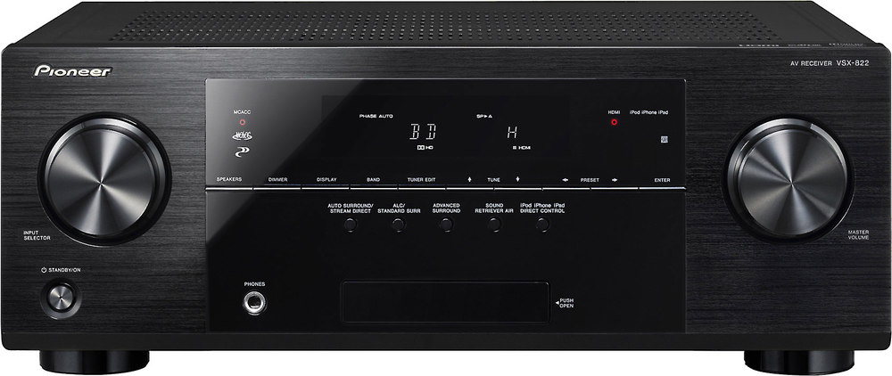 pioneer vsx 822 k home theater receiver with 3d ready hdmi switching rh crutchfield com Pioneer VSX 822 kReview User Manual Guide