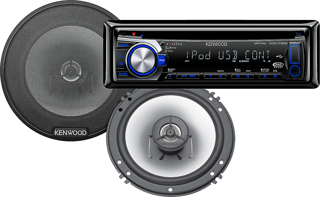 Cheap Car Audio Packages >> Kenwood Car Stereo Package Kdc X395 Cd Receiver With Kfc G1620
