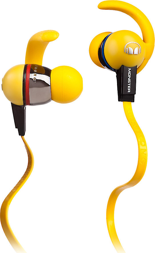 Monster iSport LIVESTRONG In-ear sports headphones with in-line remote and microphone