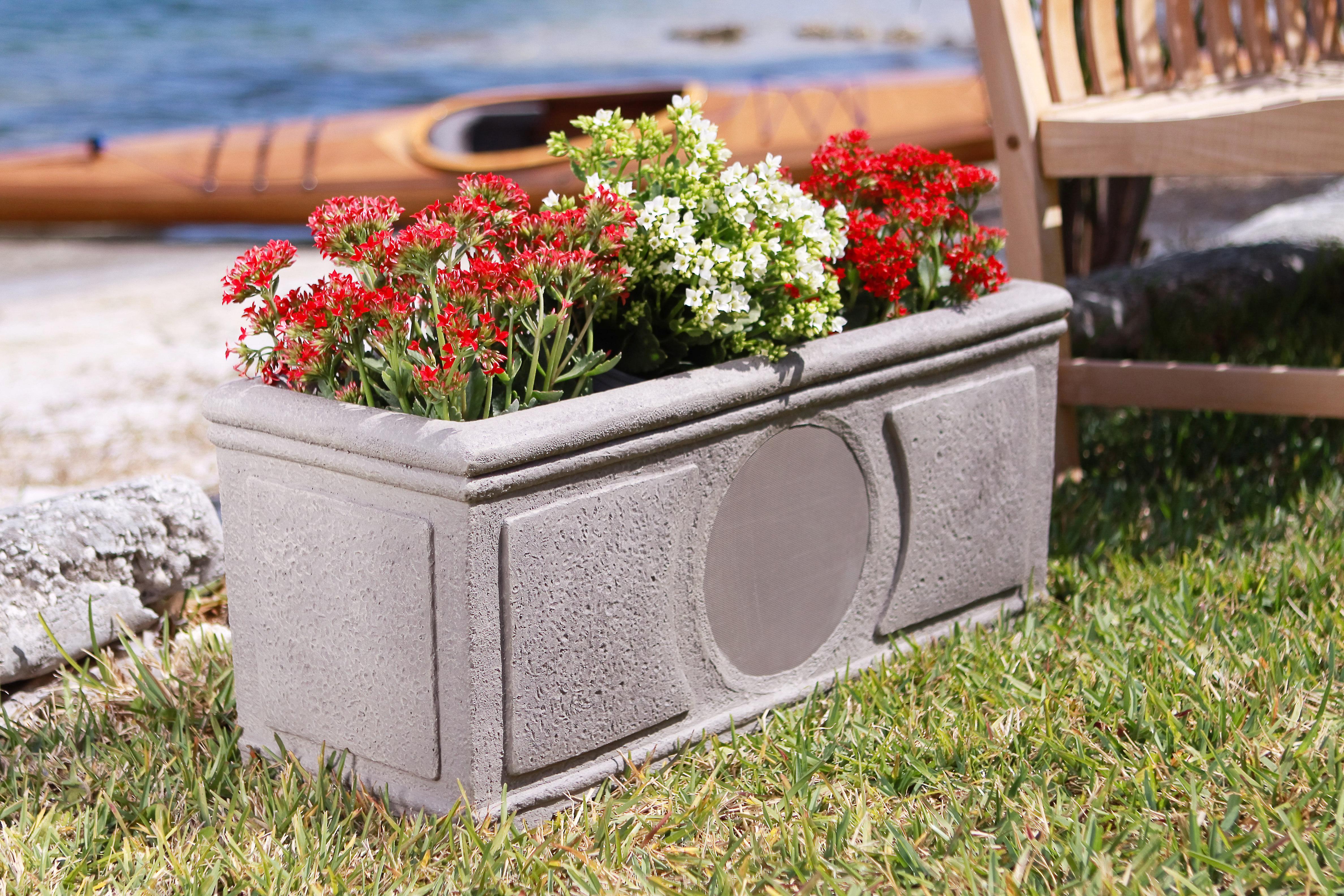 Niles PB6SI PRO Weathered Concrete 6-inch 2-Way High Performance Planter Box Loudspeaker