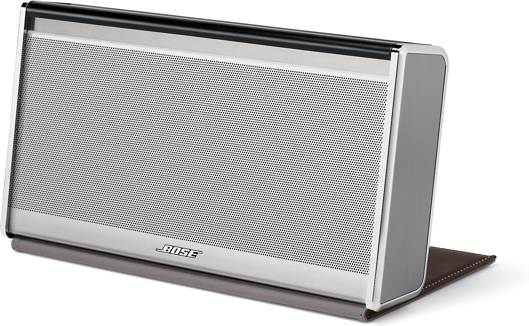 Bose® SoundLink® Wireless Mobile speaker - LX with silver finish and dark  brown leather cover at Crutchfield