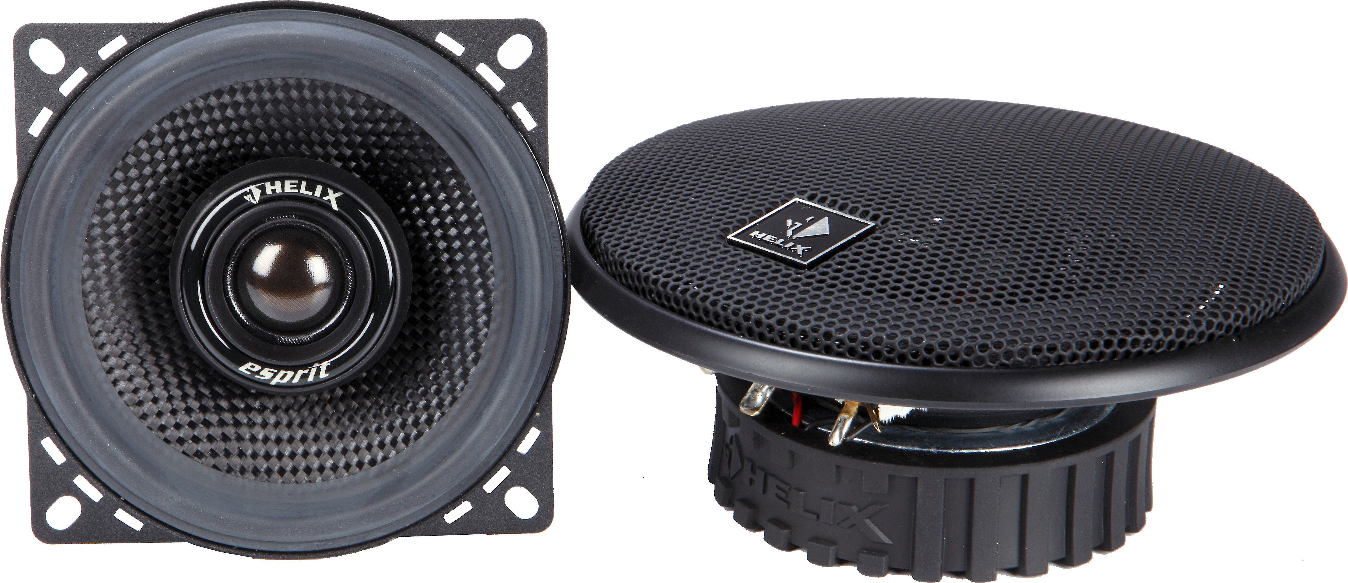"""2 HELIX 4/"""" SPEAKER COAXIAL COMPONENT PROTECTIVE GRILLS COVERS 1 PAIR"""