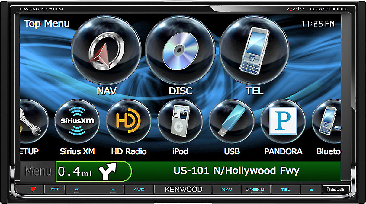 Kenwood Excelon DNX9990HD on