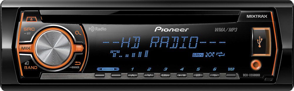 pioneer deh x5500hd cd receiver at crutchfield com rh crutchfield com Pioneer Stereo DEH -1200MP Wiring Pioneer Deh P3700mp Wiring Harness