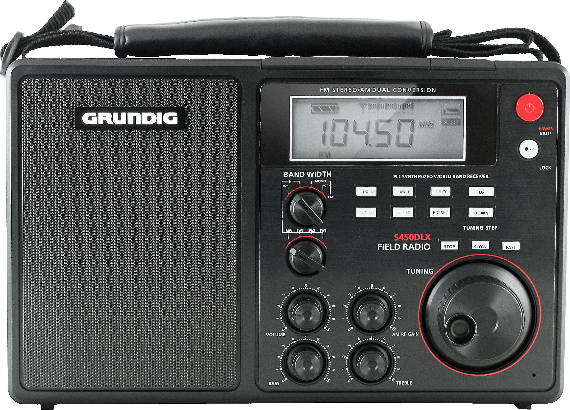 3dd3f465dd7 Grundig S450DLX Portable AM/FM/shortwave field radio at Crutchfield