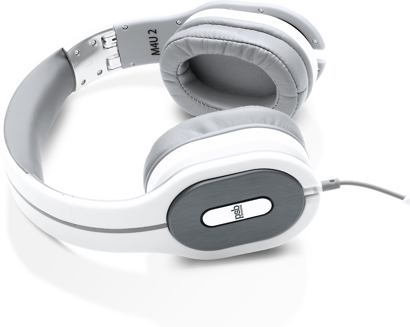 e6129b8d489 PSB M4U 2 (White) Noise-canceling headphones with in-line microphone and  remote at Crutchfield.com